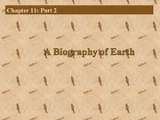 Biology of the Earth 2