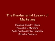 Fundamental Lesson of Marketing (Shared)