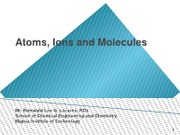 (L2)Atoms, Ions and Molecules