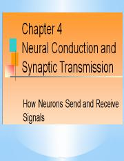 Nural Conduction & Synaptic Transmission pt. 1