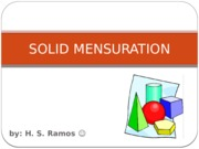 SOLID MENSURATION