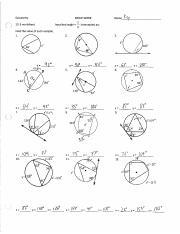 Inscribed Angles Practice Worksheet - Nidecmege