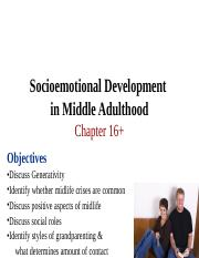 Ch 16 Socioemotional Development in Middle Adulthood.ppt
