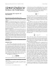2003 - Macheras - A Reappraisal of Drug Release Laws Using Monte Carlo Simulations - The Prevalence