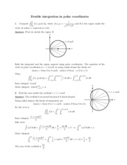 Double integration in polar coordinates review