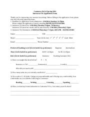 InstructorTA Application Form Spring 2014