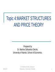 3. Market Structures and Price Theory.ppt