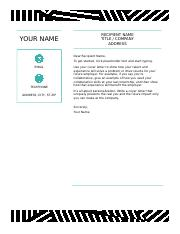Creative cover letter, designed by MOO.dotx