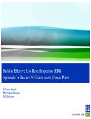 Build an effective Risk Based Inspection (RBI) approach