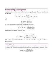 Lecture Notes on Accelerating Convergence