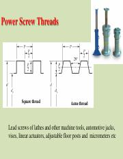 Lecture 5.2 - Power Screw