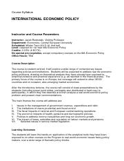 internationaleconomicpolicy