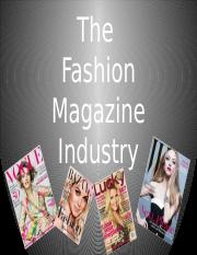 CTD281 - Fashion and the Magazine Industry(1).pptx