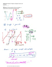 Section 5.6 Graphs of Tangent, Cotangent, Secant, and Cosecant