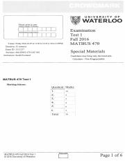 MATBUS 470 Fall 2016 Test 1 solutions
