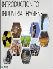 2 Introduction to Industrial Hygiene - Canvas