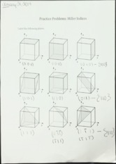 mse281 Miller Indices practice problems