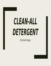 Clean all detergent, Marketing project.pptx