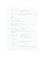 Applied Math - Change of Coordinates Lecture Notes