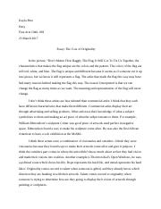 Essay The Cost Of Originality (1).docx