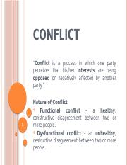 Organizational behavior 6 conflict (2)
