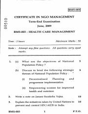 (www.entrance-exam.net)-IGNOU Certificate in NGO Management-Health Care Management Sample Paper 5.pd