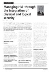 Managing risk through the integration of physical and logical security – by Richard Walters