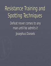 CH15Resistance Training and Spotting Techniques.ppt