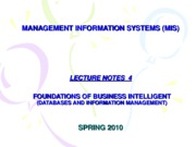04-LECTURE NOTES 4 - FOUNDATION OF BUSINESS INTELLIGENT
