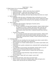 Study Guide 2 – Notes