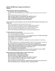 BIO 101 Fall 2009 Study Guide Exam _3 (M&M, genetics, proteins, evol.)