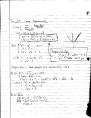 MATH 1231 Lecture Notes on Linear Approximation