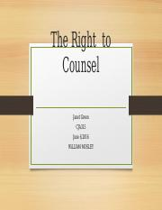 The Right  to Counsel.pptx