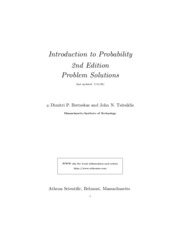 solutions manual Intro To Probability 2ndedition