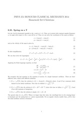 PHYS 251 Fall 2014 Problem Set 6 Solutions