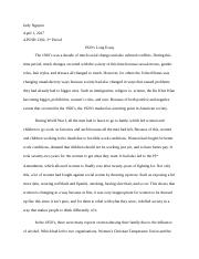 Long Essay of 1920's