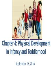chapter 4 physical development in infancy and toddlerhood