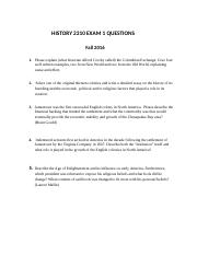 HISTORY 2310 EXAM 1 QUESTIONS  Turk(1)(3)