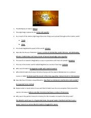Islam Empire of Faith Worksheet answers - 1 The Birthplace ...