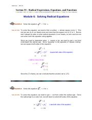 Module6_Solving_Radical_Equations