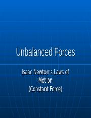 Unbalanced Forces Slides.ppt