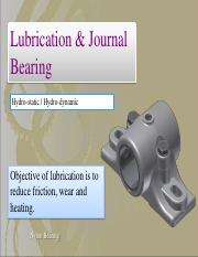 Lecture 9 - Journal Bearings
