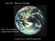 GeoE 101 Lecture 2. Earth Evolution.2011 (2)