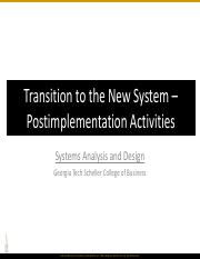 SAND_220_Transition to the New System - Postimplementation Activities.pdf