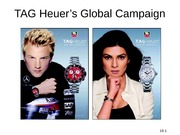 TAG Heuer's Global Campaign