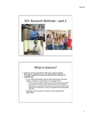 Lecture 2 Research Methods 1
