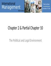 Ch2 and Part Ch10 Managing Political Risks.ppt
