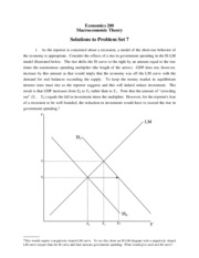 ECON 200 Problem Set 7 Solutions Fall 2007