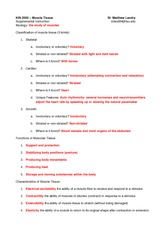 Test 4 SI- Muscle Tissue Worksheet