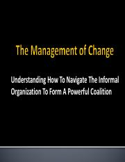 Lecture 4_Managing the Informal Organization